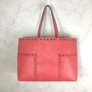 [Tory Burch] Pink Leather Tote & Wristlet